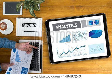 Analytics (analysis Analytic Marketing  Graph Diagram)