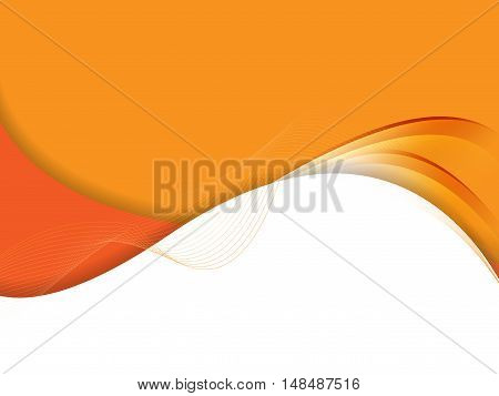 Abstract vector background, wavy lines for brochure, website, flyer design. Eps10