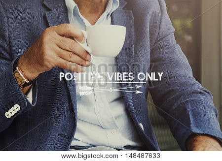 Businessman Drinking Coffee Free Time Concept