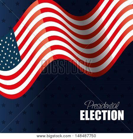 flag waving usa presidential election graphic vector illustration eps 10