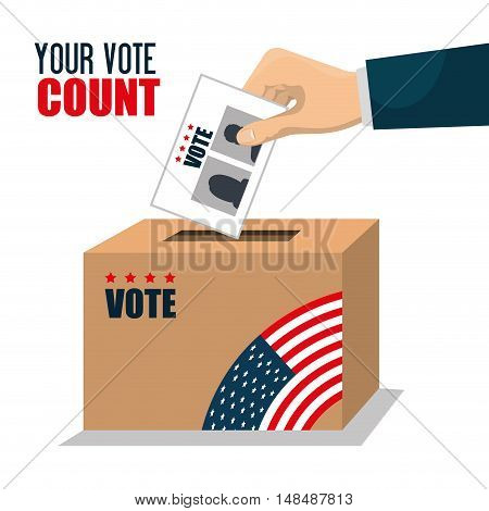 vote ballot voting box graphic vector illustration eps 10