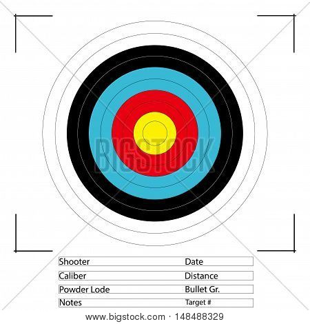 Archery and Gun Target. illustrator vector EPS 10
