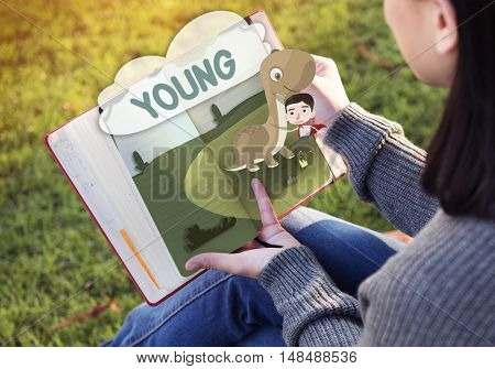 Kids Playful Young Childhood Enjoyment Concept