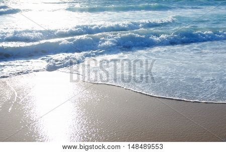 Ocean water details abstract background travel concept