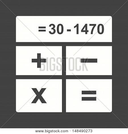 Calculations, business, profit icon vector image. Can also be used for currency. Suitable for web apps, mobile apps and print media.