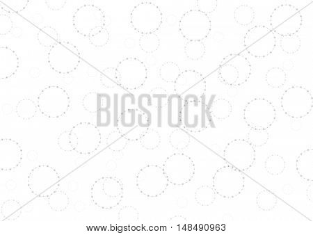Light grey tech circles abstract background. Vector design