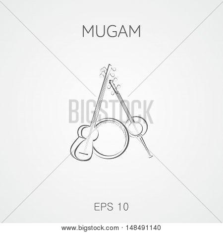Mugam musical instruments. Mugam - folk musical compositions from Azerbaijan. Mugham.