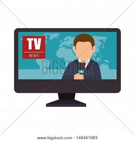 reporter tv lcd news graphic vector illustration eps 10