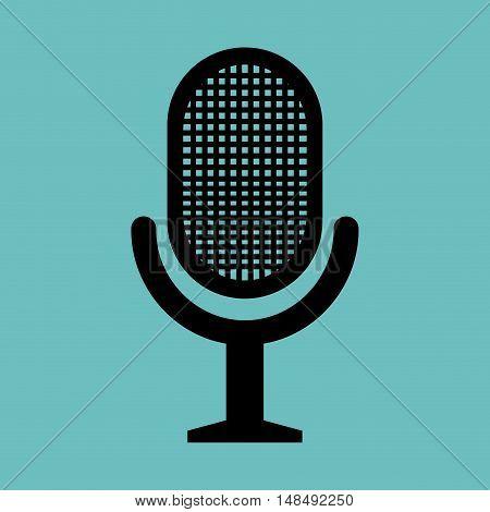 retro microphone news graphic vector illustration eps 10