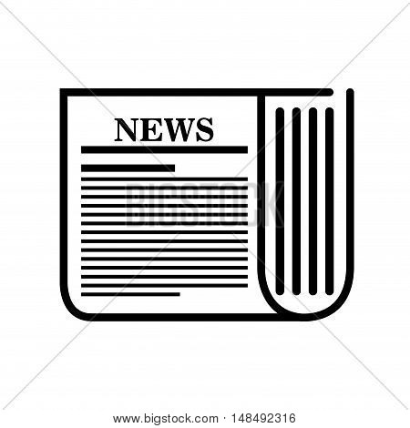 icon news paper white background graphic isolated vector illustration eps 10