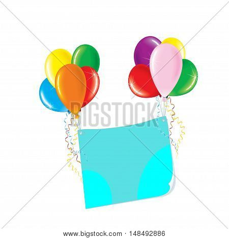 Balloons colored store on a white background. Vector illustration