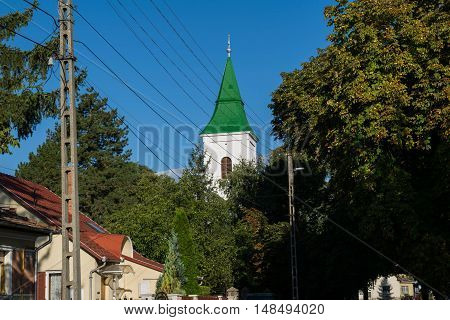 Reformed church along the road where people can prey