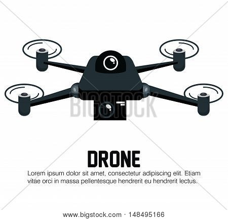 drone black icon graphic vector illustration eps 10