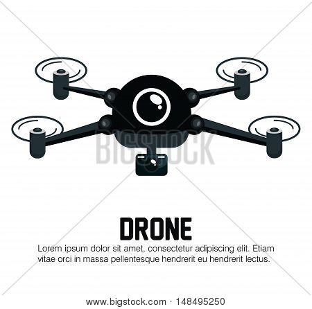 icon drone technology graphic vector illustration eps 10