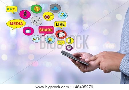 Connecting And Sharing Social Media People Use Connect