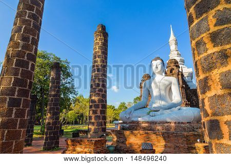 The Grand Hall of Wat Maha That Temple in Sukhothai, Thailand