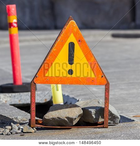 Temporary Construction Sign