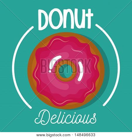icon donut glazed pink graphic vector illustration eps 10