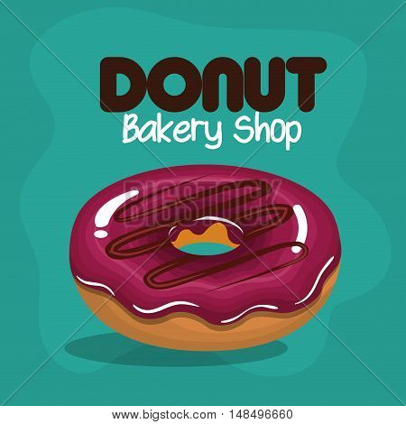 icon donut glazed pink chocolate graphic vector illustration eps 10