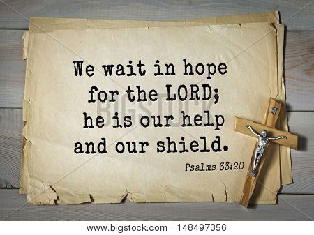 TOP-1000.  Bible verses from Psalms. We wait in hope for the LORD; he is our help and our shield.