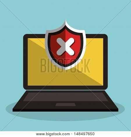 laptop icon alert error graphic isolated vector illustration eps 10