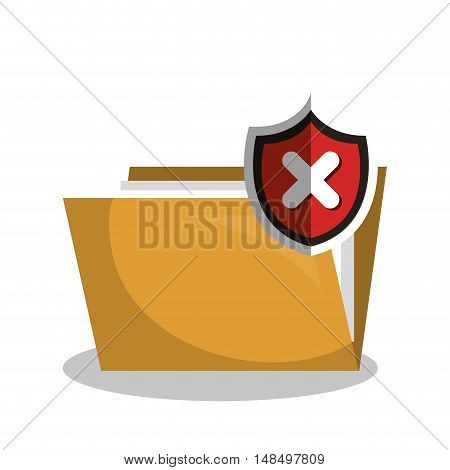 virus warning data grpahic isolated vector illustratin eps 10