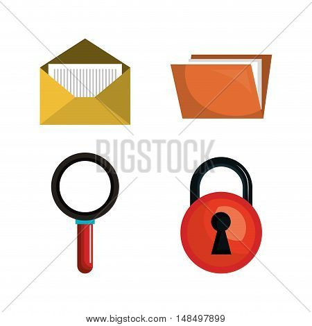 collection safeti system data pc graphic isolated vector illustration eps 10
