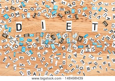 Diet Word From Cut Out Letters