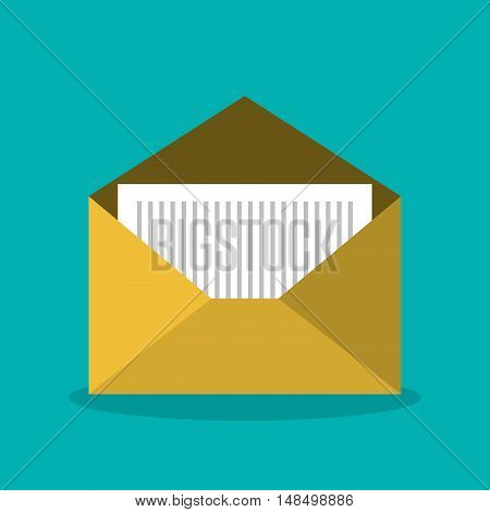 message email envelope icon design vector illustration eps 10