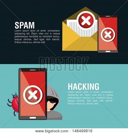 infographic hacking virus system design vector llustration eps 10