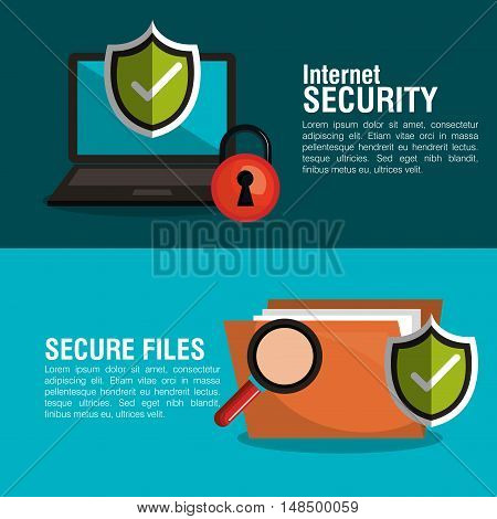 infographic security checkmark design vector illustration eps 10