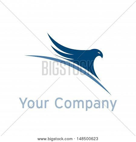 Vector sign eagle on the world isolated illustration