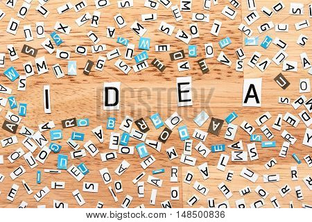 Idea Word From Cut Out Letters
