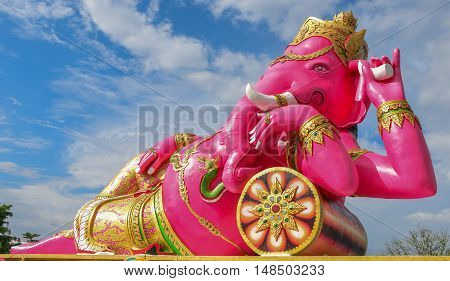 Ganesha in temple of Thailand(God of Success)