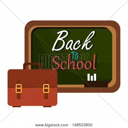 back to school board and bag design vector illustration eps 10