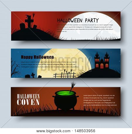 Design Web Banners For Halloween