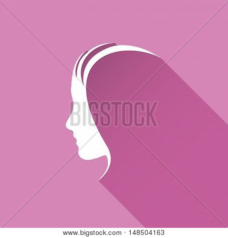 Vector sign Profile of woman isolated illustration