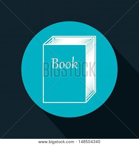 cartoon big book reading design isolated vector illustration eps 10