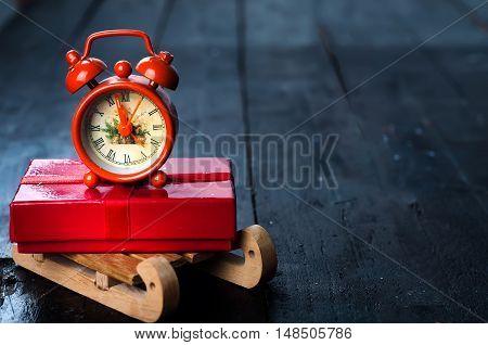 Composition With Vintage Alarm Clock.