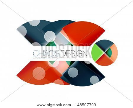 Geometric abstract composition - circles layout with light effects