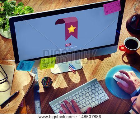Favorite Bookmark Information Network Click