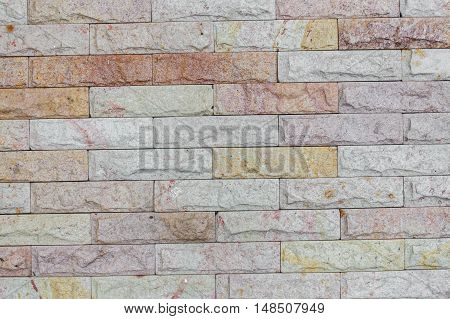 brick wall texture sandstone background  and color : space for add text above and may be used as background :