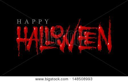 Halloween bloody lettering on a black background. Eps8. RGB. Global colors