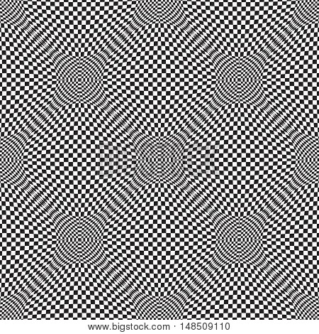 Vector 3d seamless abstract pattern. Optical illusion.