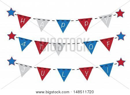 Patriotic Red White and Blue Bunting Banner