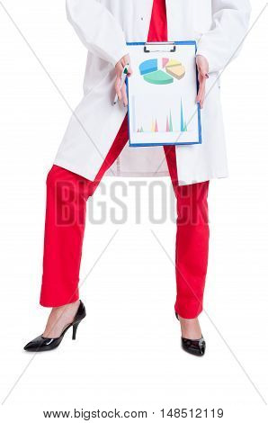 Female Doctor In High Heels And Medical Uniform