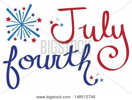 Red White and Blue Fourth of July