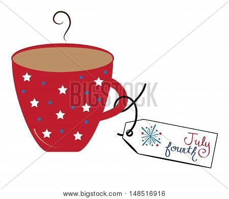 Red White and Blue American July 4th Coffee