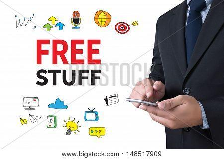 FREE STUFF businessman working use smartphone businessman working