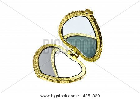 Beautiful Cosmetic Mirror Isolated On White Background
